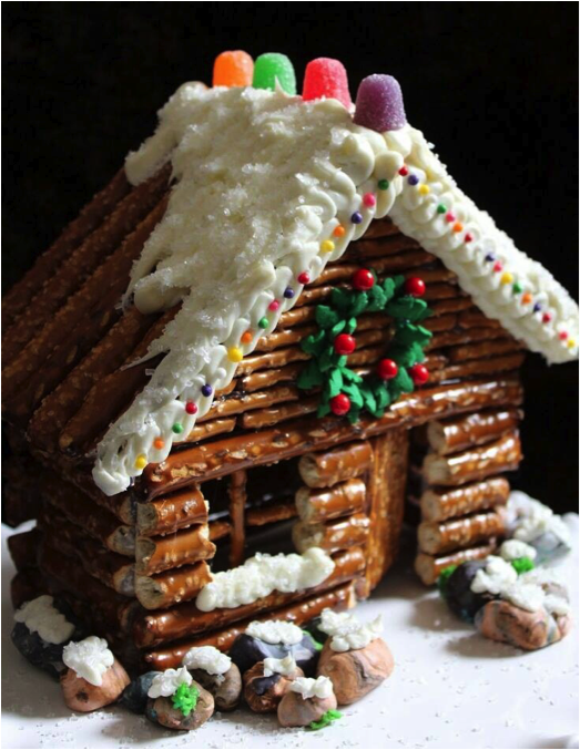 If Youu0027re Looking For More Ideas Outside Of Just A Gingerbread House Why  Not Make A Log Cabin With Pretzels? Pretzels Provide The Perfect Texture  And Look ...