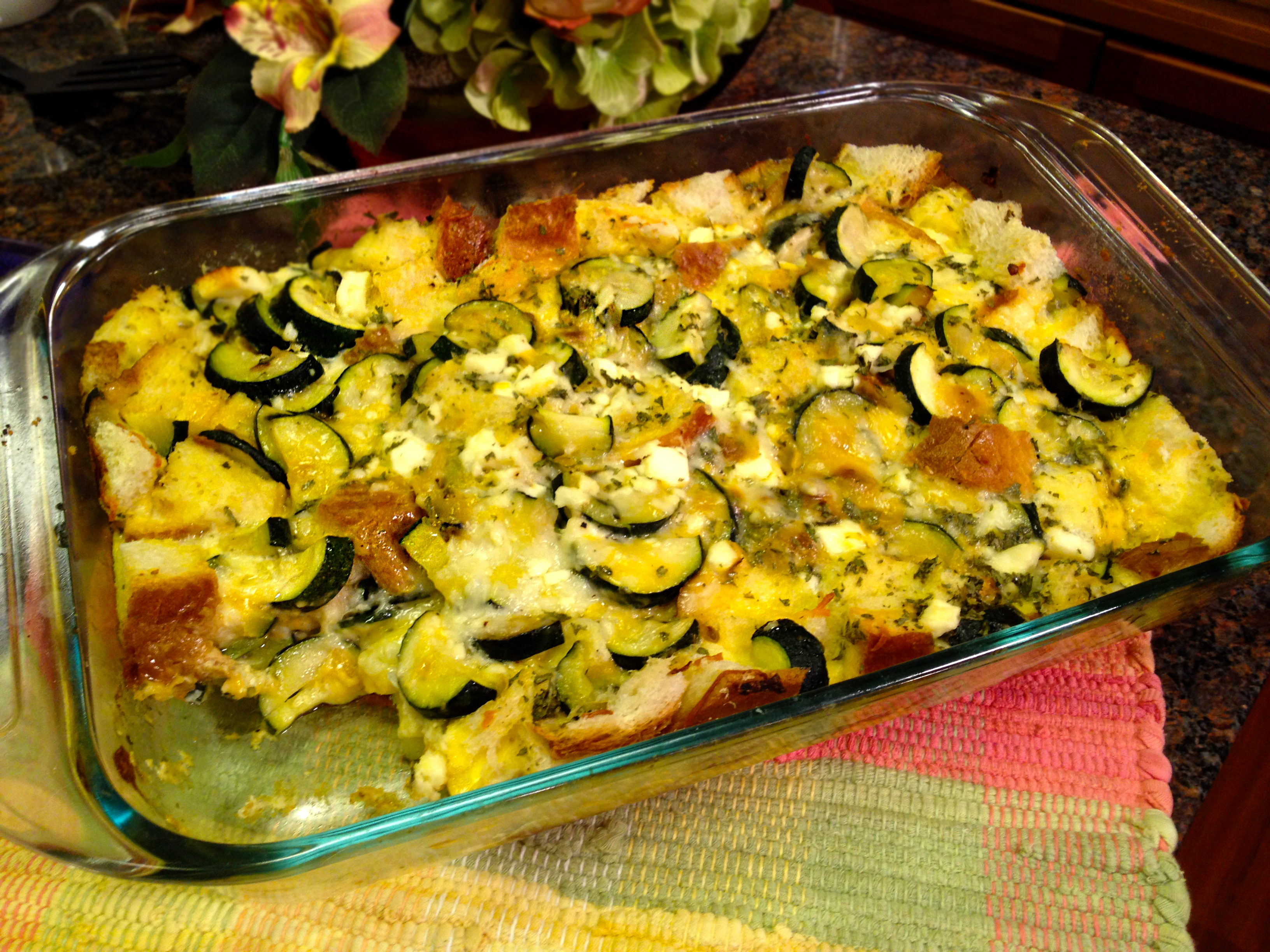 This new strata uses zucchini and focaccia bread. It's great for ...