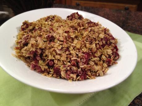 Raspberry Baked Granola