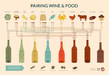infographic wine pairing