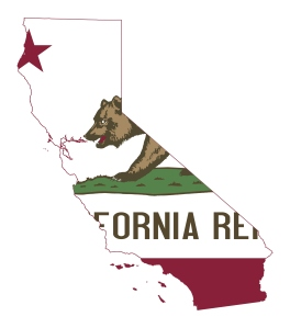 State of California flag map