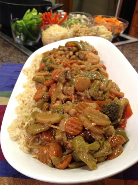 Chickpea Vegetable Stir-Fry