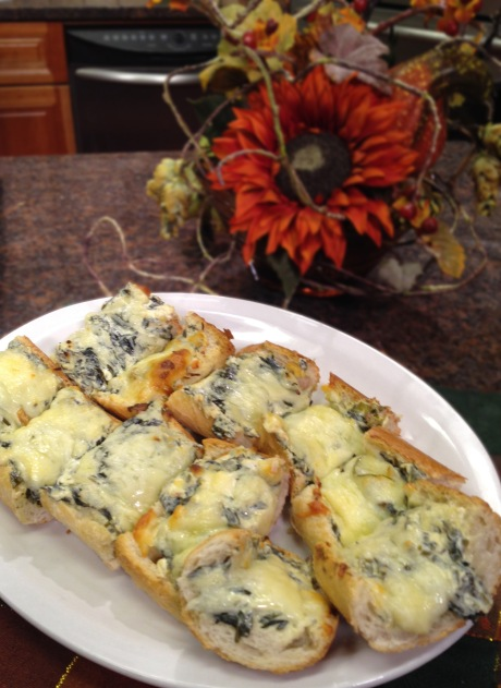 Spinach and Cheese French Bread Bites